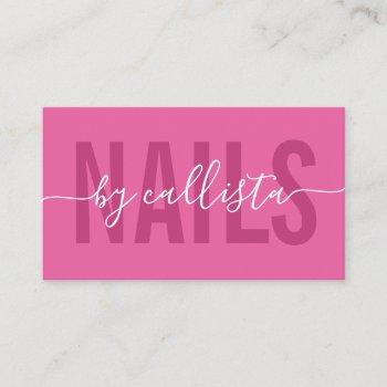 elegant modern simple typography nail artist business card