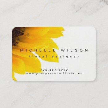 elegant modern sunflower business card