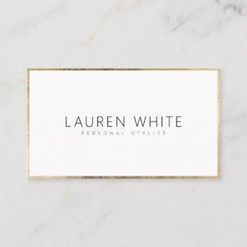 elegant modern trendy gold minimalist professional business card