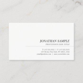 elegant modern trendy simple professional template business card