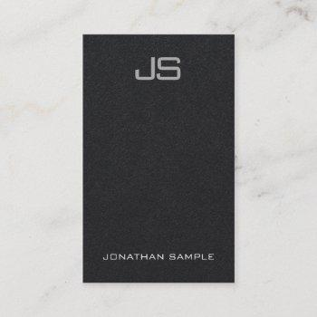 elegant monogram vertical template luxurious black business card