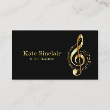 elegant music teacher piano keys musical business card