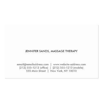 Small Elegant Name With Cherry Blossoms Business Card Back View