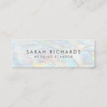 elegant opal texture pattern unique mini business card