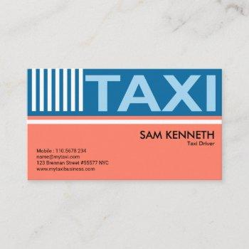 elegant pastels simple taxi signage taxi driver business card