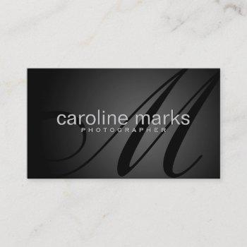 elegant photography business card template