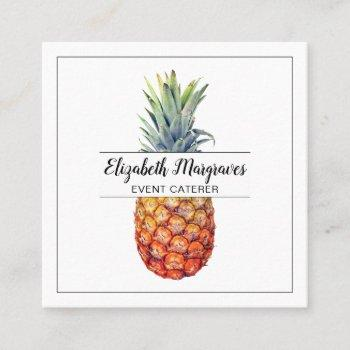 elegant pineapple event planner and caterer square business card