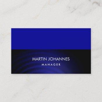 elegant plain stylish blue color business card