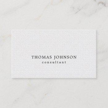 elegant printed kraft texture white consultant business card