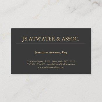 elegant professional black business card