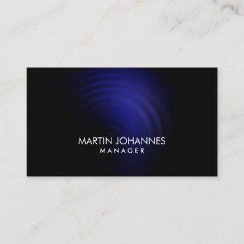 elegant professional blue black business card