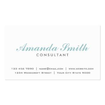 Small Elegant Professional Plain White Makeup Artist Business Card Front View