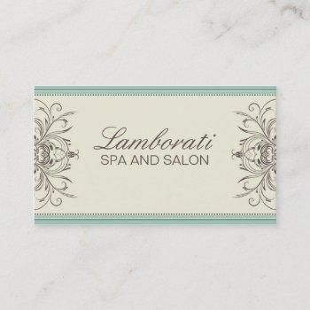 elegant professional vintage damask art deco business card