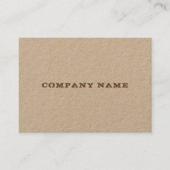 elegant real kraft paper distressed text template business card