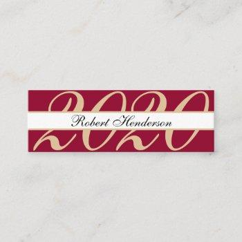 elegant red classic insert card graduation name