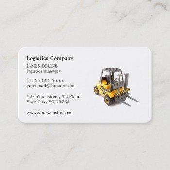 elegant simple forklift logistics company business card