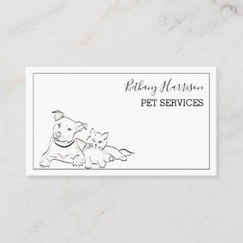 elegant simplistic pet services business card