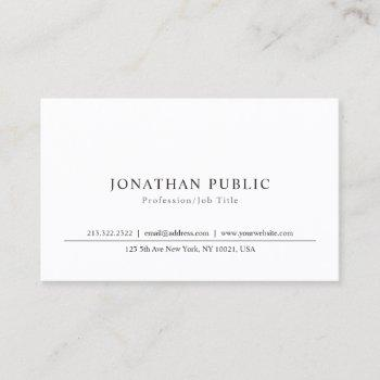 elegant sleek plain professional classic design business card