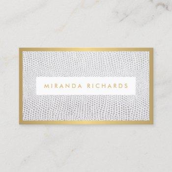 elegant snakeskin print for fashion blogger business card