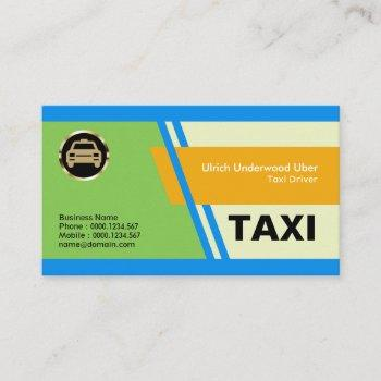 elegant special blue slanting stripes taxi service business card