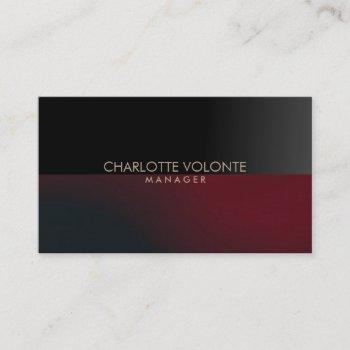 elegant stylish dark gray red artwork professional business card