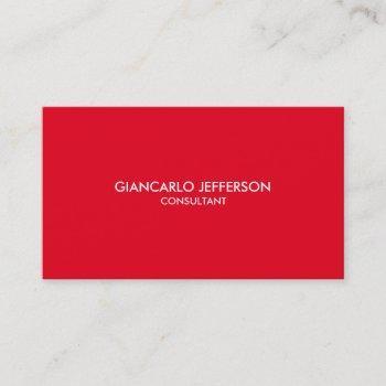 elegant stylish red professional business card