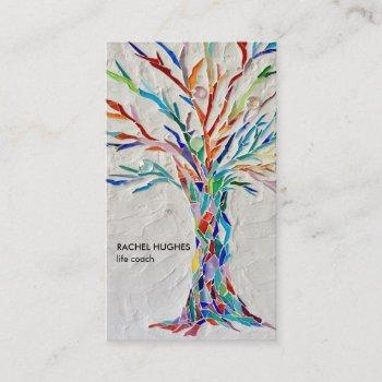 elegant tree life coach business card