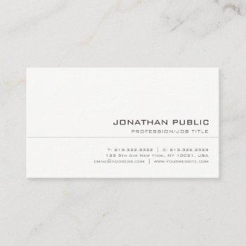 elegant trendy clean professional modern template business card