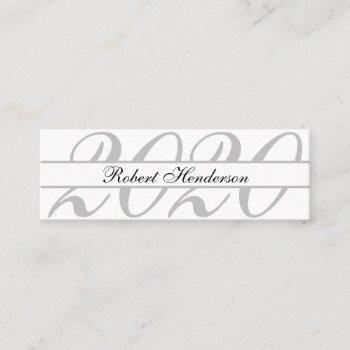 elegant white classic insert card graduation name