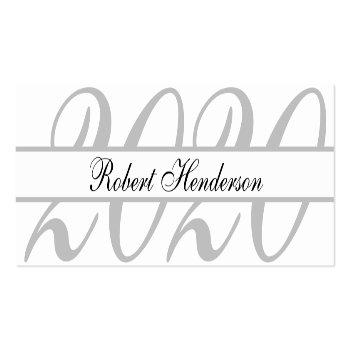 Small Elegant White Classic Insert Card Graduation Name Front View