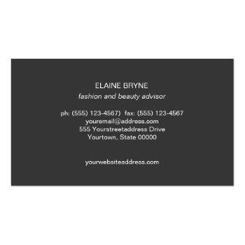 Small Elegant White Marble Makeup Artist Beauty Business Card Back View