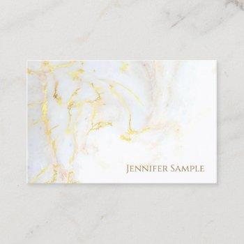 elite gold marble plain elegant golden modern chic business card