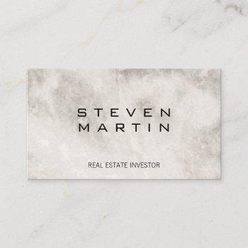 elite luxury marble business card