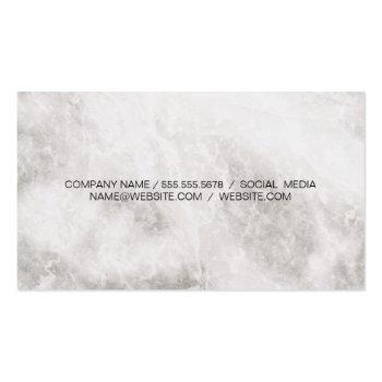 Small Elite Luxury Marble Business Card Back View