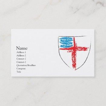 episcopal shield business card