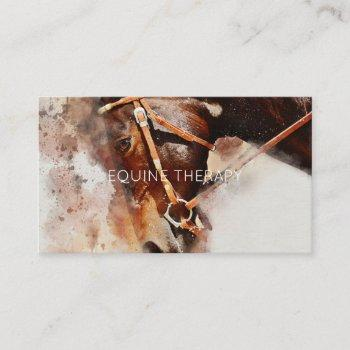 equine watercolor business card