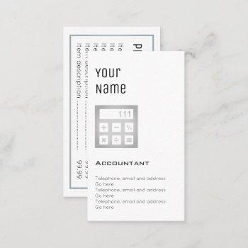 """""""essential"""" accountant price cards"""