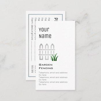 """essential"" garden fencing price cards"
