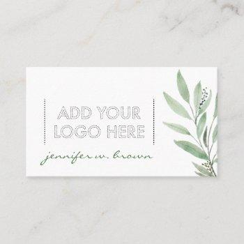 essential oils add your custom logo floral business card