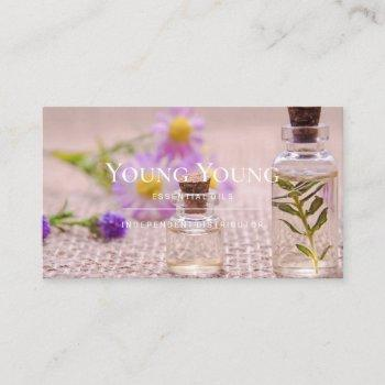 essential oils aromatheraphy business card