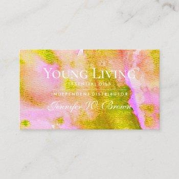 essential oils business card