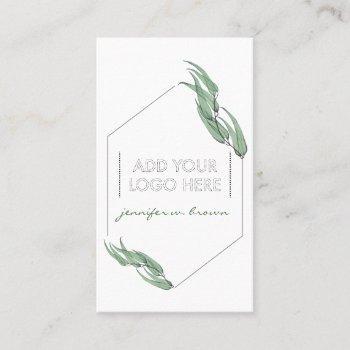 essential oils eucalyptus custom logo green floral business card