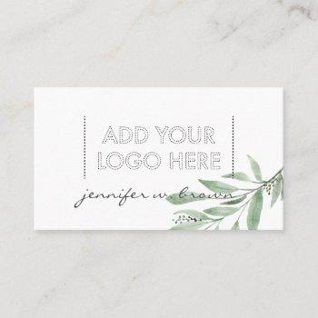 essential oils floral green elegant boho logo business card