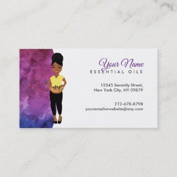 essential oils logo business cards