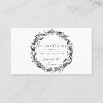 essential oils purple lavender flower business card