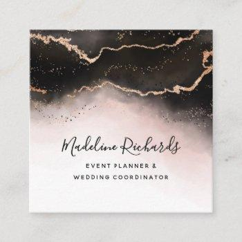 ethereal mist ombre blush pink watercolor modern square business card