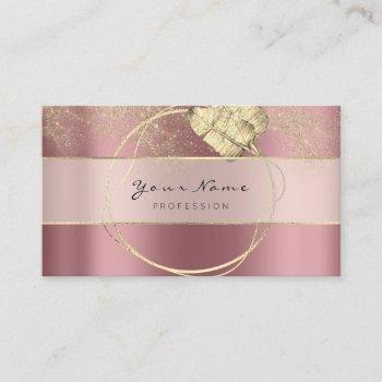 event planner blogger rose gold floral wreath business card