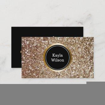 event planner | elegant faux glitter gold business card