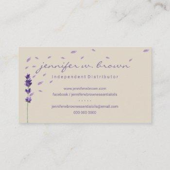 event planner lavender flower sprigs botanical business card