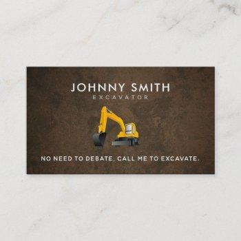 excavation slogans business cards